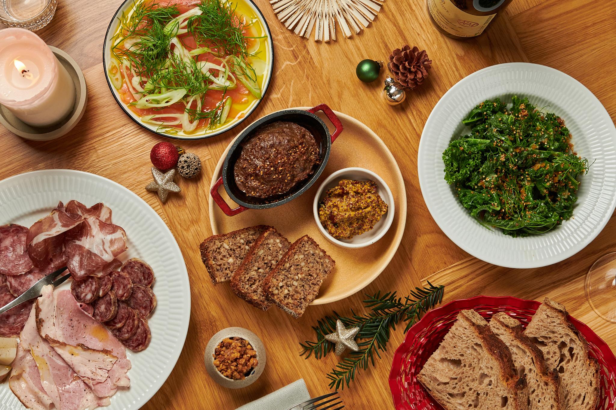 Økologisk mad til julefrokost, firmafest og meget mere hos os eller som catering fra Puglisi Events. Billede af: Mikkel Heriba