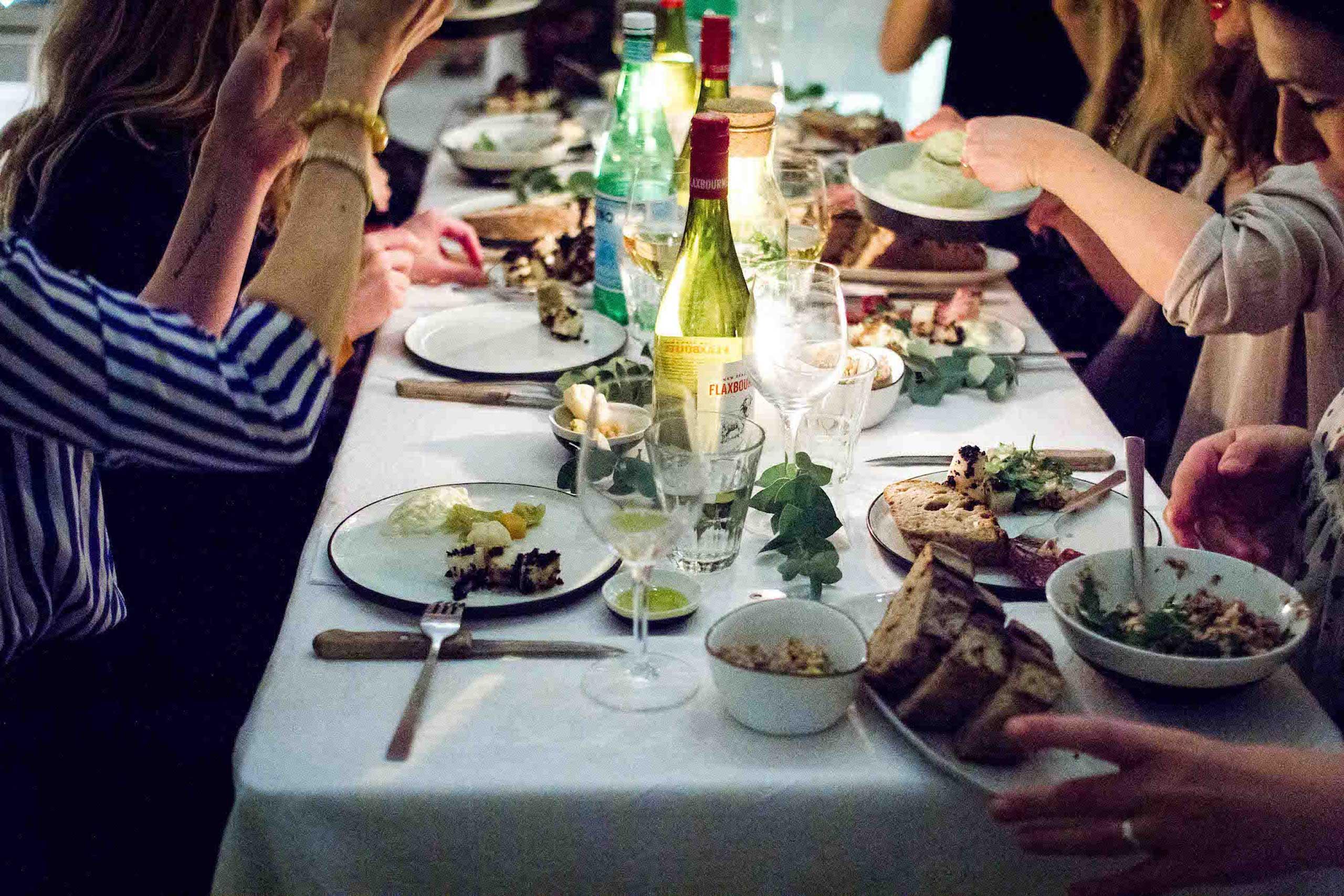 Økologisk mad og vin hos os eller som catering til studenterfest, fødselsdag og meget mere fra Puglisi Events. Billede af: Rachel Jones.