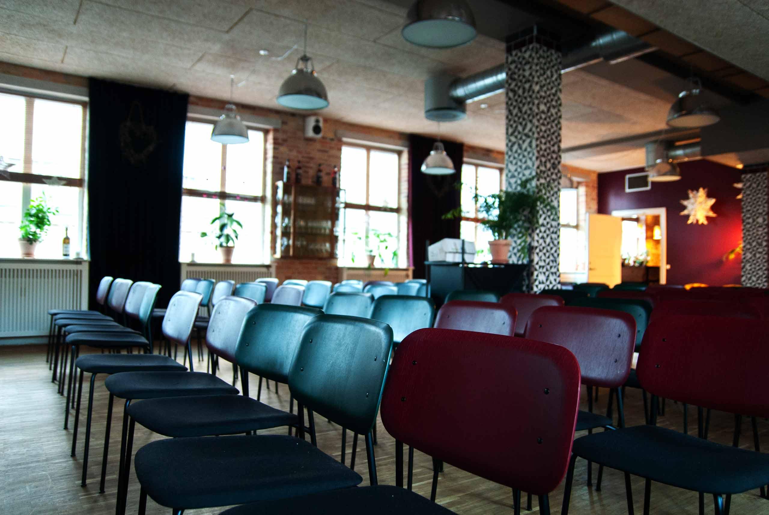 Selskabslokalet Upstairs at BÆST til alle slags selskaber og events hos Puglisi Events. Billede af: Karl Ejnar Jørgensen.
